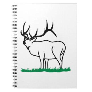 Elk Outline Notebook
