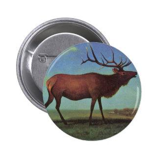 Elk Painting 6 Cm Round Badge