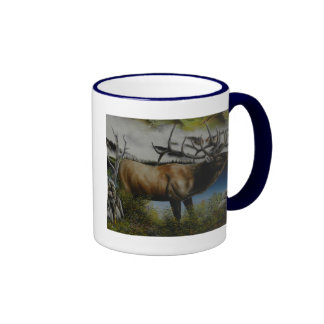 Elk Painting on customizable products Coffee Mugs