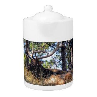 Elk Porcelain Tea Pot