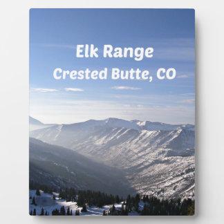 Elk Range, Crested Butte, CO Plaque