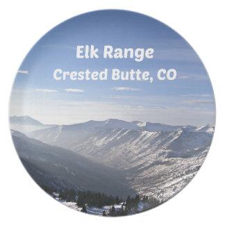Elk Range, Crested Butte, CO Plate