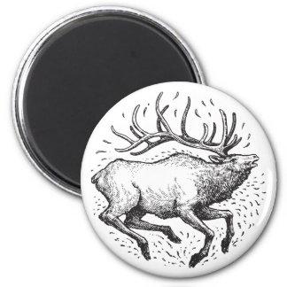 Elk Round Magnet
