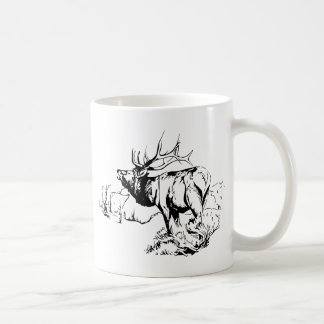 ELK SCENE COFFEE MUG