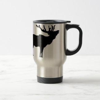 elk shilouette peace joy calm stainless steel travel mug