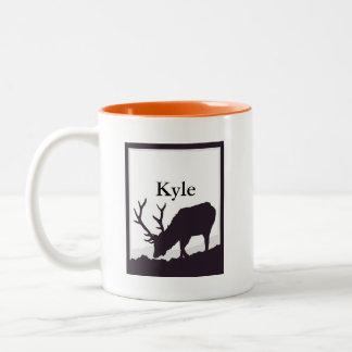 Elk Silhouette Two-Tone Mug