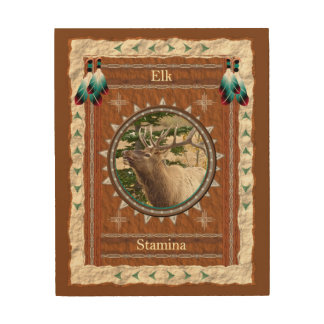Elk  -Stamina- Wood Canvas