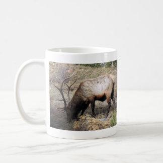 Elk Wapiti Cervus Canadensis Basic White Mug