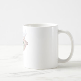 Elk (Wapiti) Meadow Habitat Basic White Mug