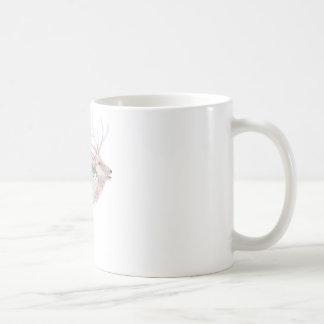 Elk (Wapiti) Meadow Habitat Basic White Mug