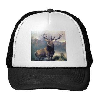 Elk wild animal painting hats