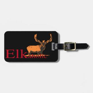 Elkaholic 2 luggage tag