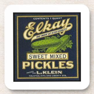Elkay Sweet MIxed Pickles Beverage Coasters
