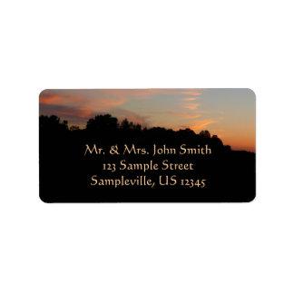Elkridge Sunset Maryland Landscape Address Label