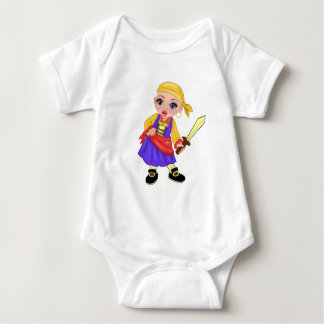 Ella The Enchanted Princess Who Are You? Pirate Baby Bodysuit