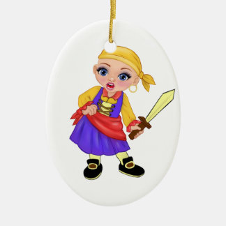 Ella The Enchanted Princess Who Are You? Pirate Ceramic Ornament