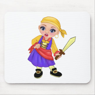 Ella The Enchanted Princess Who Are You? Pirate Mouse Pad