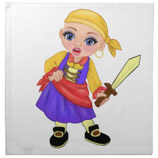 Ella The Enchanted Princess Who Are You? Pirate Napkin