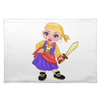 Ella The Enchanted Princess Who Are You? Pirate Placemat