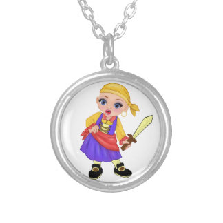 Ella The Enchanted Princess Who Are You? Pirate Silver Plated Necklace