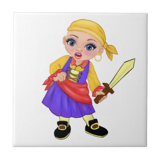 Ella The Enchanted Princess Who Are You? Pirate Tile