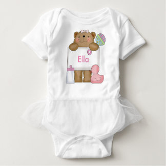 Ella's Personalized Bear Baby Bodysuit