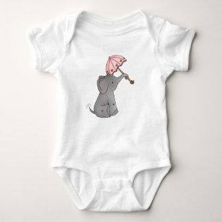 Ella's Umbrella Elephant Baby Bodysuit