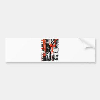 Elle-abstract-009-1620-Original-Abstract-Art-untit Bumper Sticker