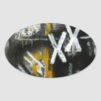 Elle-abstract-021-1620-F-Original-Abstract-Art-XX. Oval Sticker