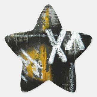 Elle-abstract-021-1620-F-Original-Abstract-Art-XX. Star Sticker