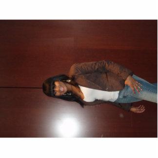 elle (brown) standing photo sculpture