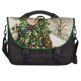 Ellen Clapsaddle Holly Boy with Toys Laptop Messenger Bag
