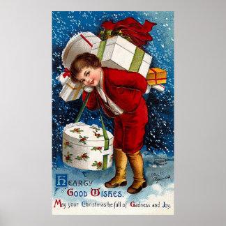 Ellen H. Clapsaddle - Christmas Shopping Boy Poster