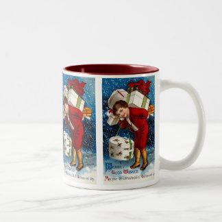 Ellen H. Clapsaddle - Christmas Shopping Boy Two-Tone Mug