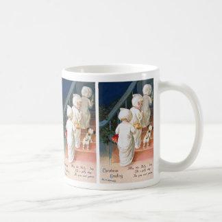 Ellen H. Clapsaddle: Christmas Toddler Girls Classic White Coffee Mug