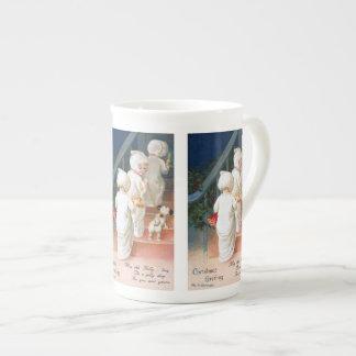 Ellen H. Clapsaddle: Christmas Toddler Girls Tea Cup