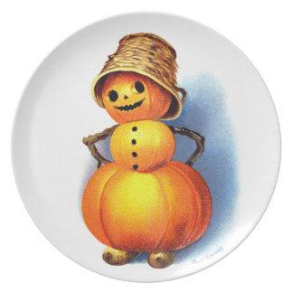 Ellen H. Clapsaddle: Funny Pumpkin Character Plate