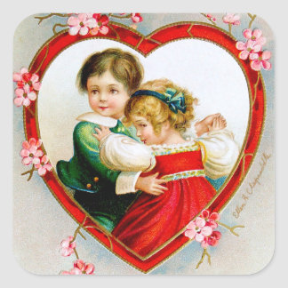 Ellen H. Clapsaddle: Secret in my Heart Square Sticker