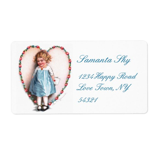 Ellen H. Clapsaddle: To The One I Love Shipping Label