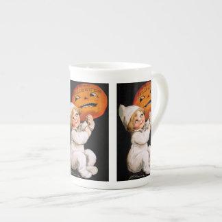 Ellen H. Clapsaddle: Toddler with Pumpkin Bone China Mug