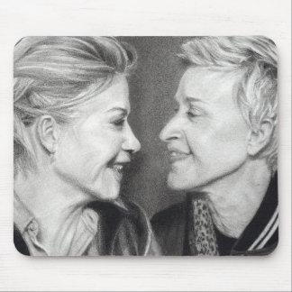 Ellen & Portia Degeneres Mouse Pad