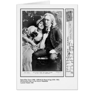 Ellen Terry & Henry Irving in The Vicar of Wakefie Card