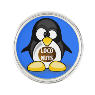 Ellen the Loco Nuts Penguin Lapel Pin