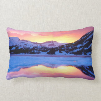 Ellery Lake at Sunset Lumbar Pillow