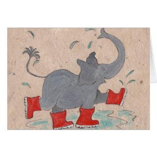 Ellie in Wellies Card