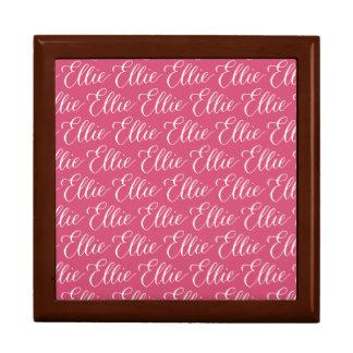 Ellie - Modern Calligraphy Name Design Large Square Gift Box