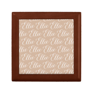 Ellie - Modern Calligraphy Name Design Small Square Gift Box