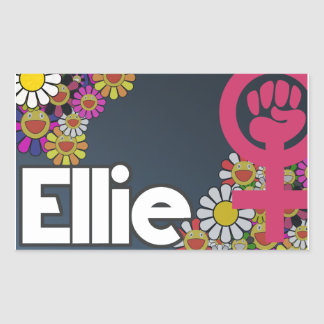 Ellie - Sheet of 4… Rectangular Sticker