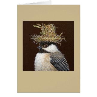 Ellie the chickadee card