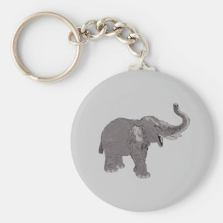 Ellie the Elephant Basic Round Button Key Ring